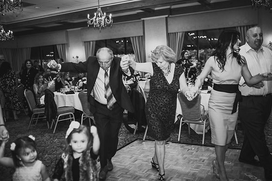 Dancing at the reception for a Greek Orthodox Baptism