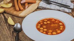 Zdravá frankfurtská polévka se smetanou