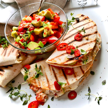 Quesadillas with Mature Cheddar