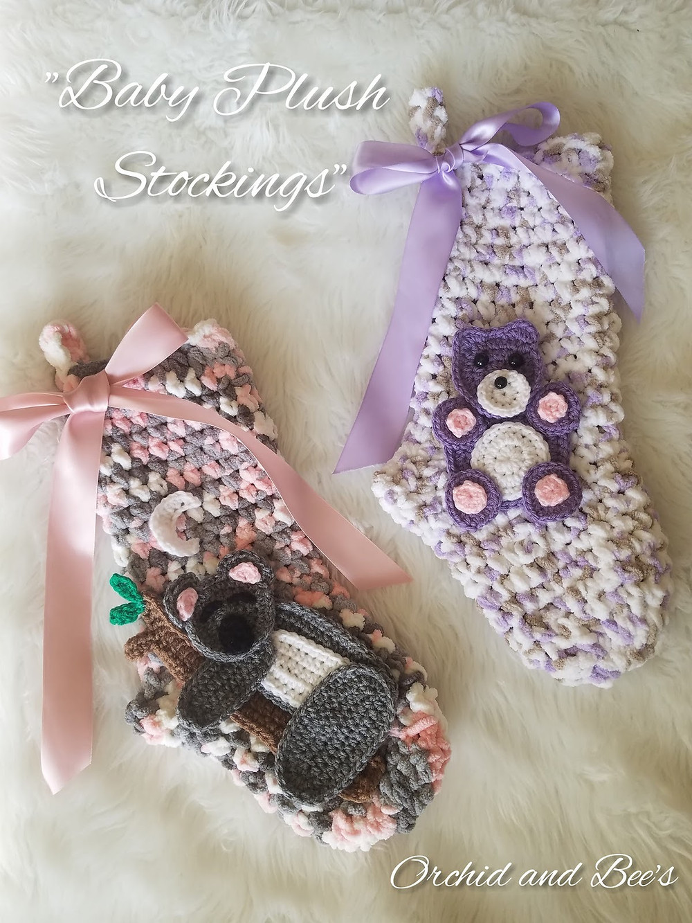 christmas stockings baby crochet pattern koala bear teddy bear