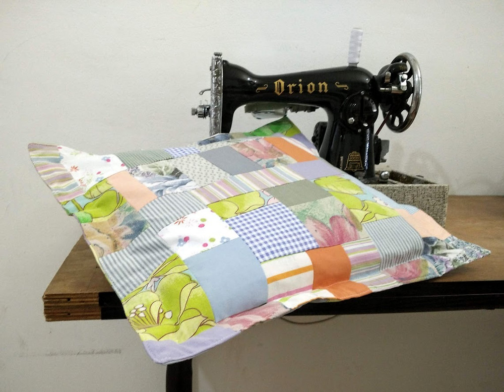 Crumb patchwork pillow case