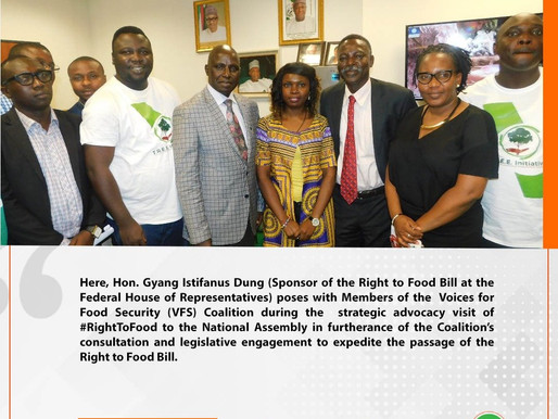 Strategic Advocacy Visit of VFS members to the National Assembly on the Right to Food Bill