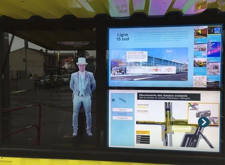 Un hologramme pour aider les commerçants les travaux du Grand Paris