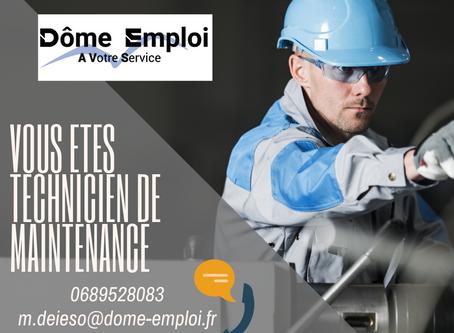 Technicien de maintenance H/F secteur Isère, Rhône, Ain