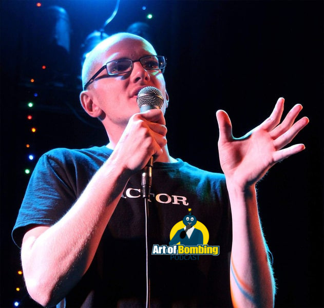 Billy Orme performing stand up comedy