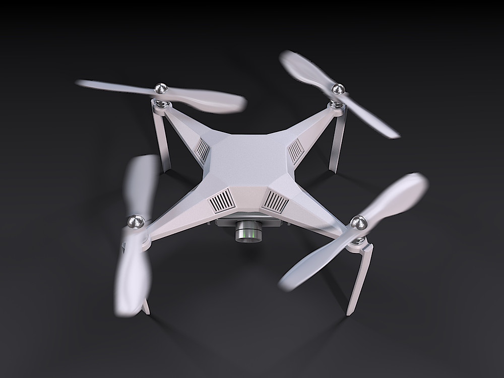 "Main image of the project ""3D Rendering for the UAV drone"""