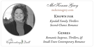 Author McKenna Grey at The Captivating Quill
