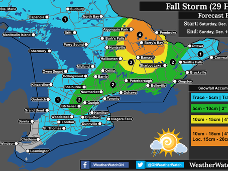 Strong System to Bring Heavy Snow, Freezing Rain, and Heavy Rain to Southern Ontario