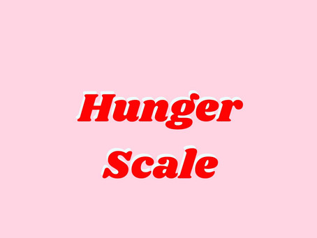 The Hunger Scale: Intuitive Eating