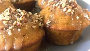 Pumpkin Muffins with Salted Brown Butter Glaze