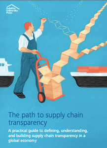 Illustration of man tracing supply chain transparency