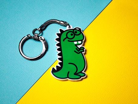 Dorky Dino Keychain Giveaway
