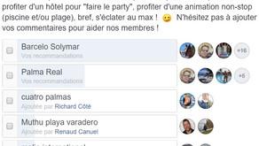 """Hôtels recommandés pour """"faire le party"""""""