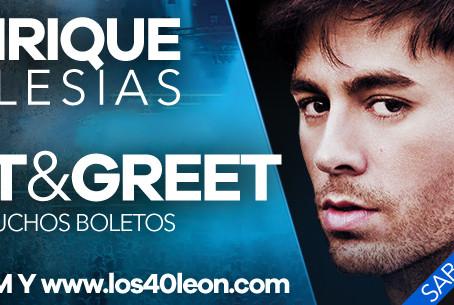 Enrique Iglesias llega a León y tenemos un Meet&Greet para ti