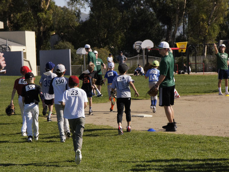 Helping out at the SLO Youth Baseball League's Spring training