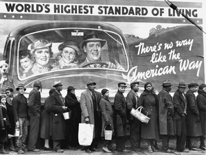An iconic image that came to symbolize the economic disparities during The Great Depression