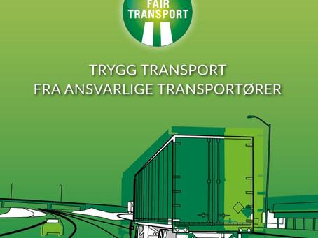 Visste du at vi er en Fair Transport-sertifisert bedrift ?