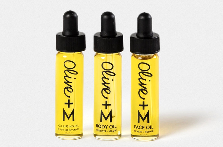 olive + m face oil set