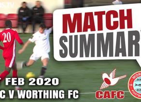 Match summary - Worthing