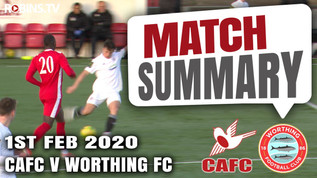 Match summary - Worthing