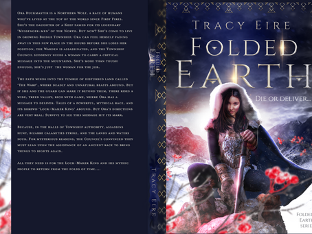 Is Lusis Buckmaster on the cover of the 'Folded Earth' book?