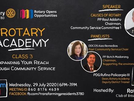 Rotary Academy Class 3