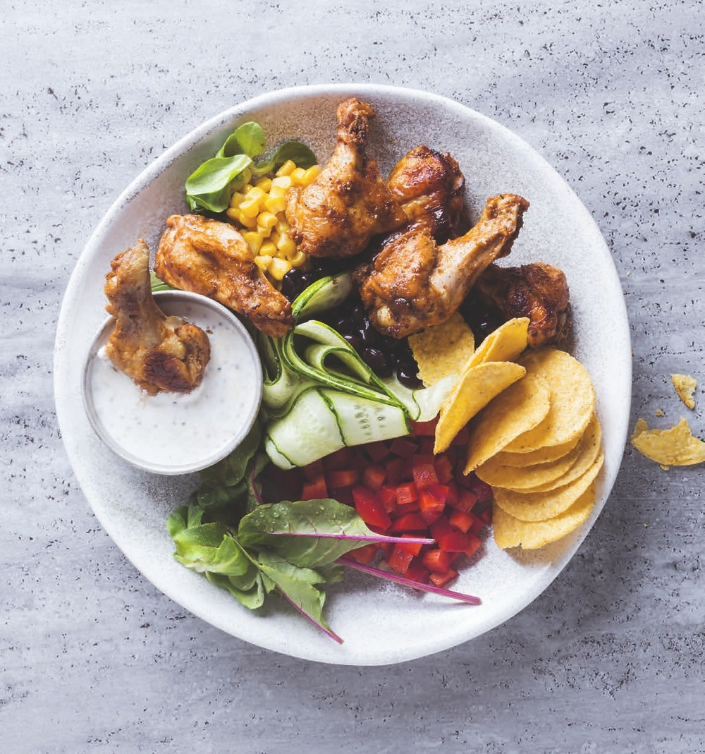 vištienos sparneliai, BBQ marinatas, idėja pietums, užkandis