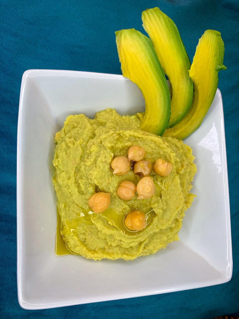 Dip de garbanzos y palta - Nutricionista Vegetariana Karina Herrera