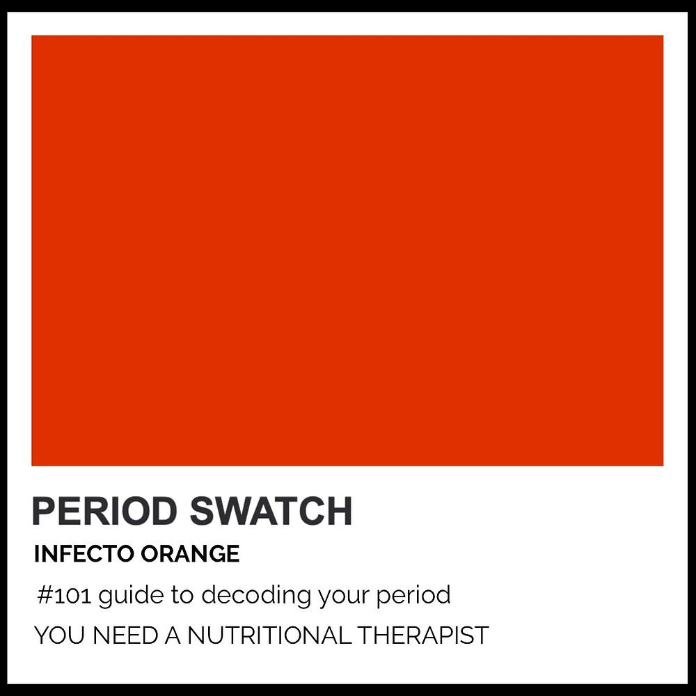 Period-Pantone Infecto Orange by Hormone Specialist Kay Ali