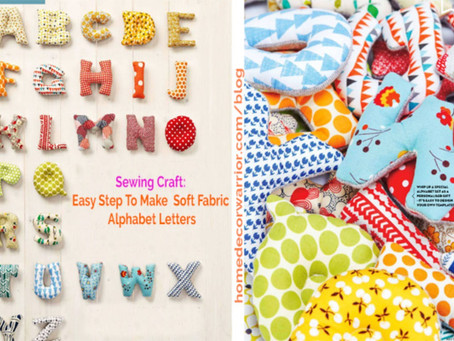 Easy Step To Make  Soft Fabric Alphabet Letters | DIY Sewn Fabric Alphabet Letters