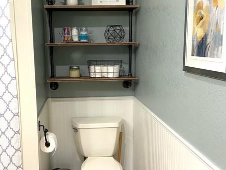 Refreshing bathroom redesign!