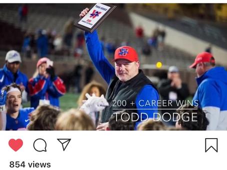 Remembering Win 200 Coach Todd Dodge