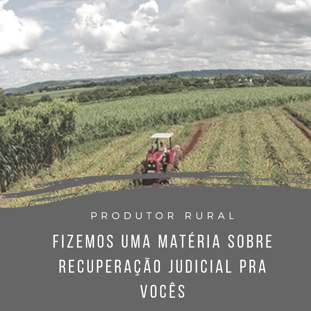 produtores rurais agricultor recuperação judicial possibilidade