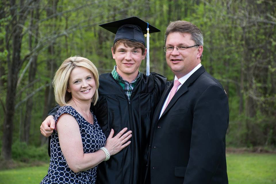 Our son Patrick graduating in 2015