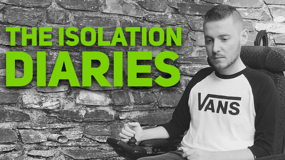 The isolation diaries header - black and white image of Ross edited with the title