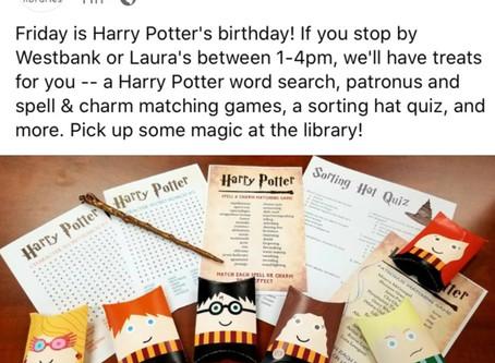 Happy Birthday Harry Potter !!!