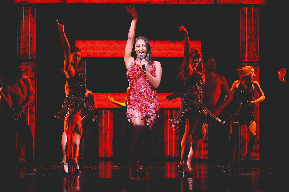 Alexandra Burke as Rachel Marron in The Bodyguard at Manchester Palace. Picture: Paul Coltas