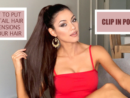 HOW TO PUT PONYTAIL HAIR EXTENSIONS IN | ARIANA GRANDE PONYTAIL TUTORIAL