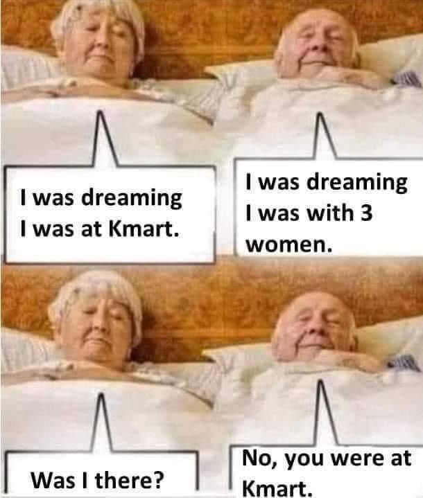 I was Dreaming I was at Kmart. I was dreaming I was with 3 women