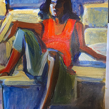 Marie Roberts, I love to draw from the figure