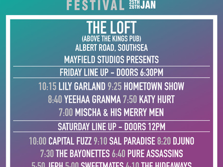 The Loft Stage Times!
