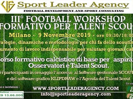 Sponsor ufficiale Workshop per Talent Scout