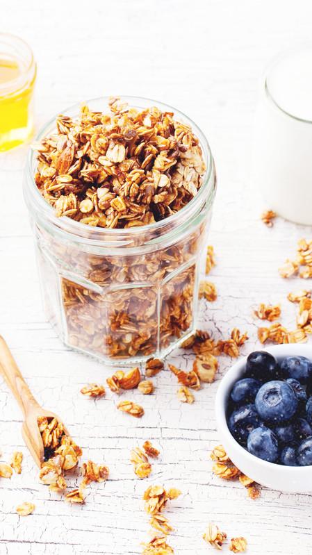 Cereal de granola energizante