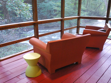 9 Riverbend Drive, Asheville NC 28805 delights with a rushing river