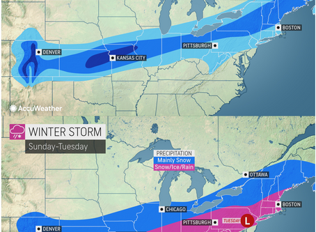ACCUWEATHER METEOROLOGISTS PROVIDE UPDATE ON SNOW AND ICE FROM THE ROCKIES TO THE NORTHEAST