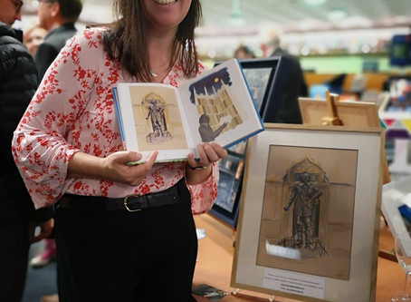 Behind the scenes at the Bodleian Library. Own the Original illustration from the Oxford Art Book!