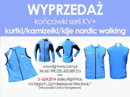 WYPRZEDAŻ - profesjonalna odzież sportowa do nordic walking i biegania firmy KV+