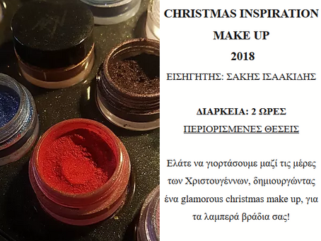 CHRISTMAS INSPIRATION MAKE UP 2018 Workshop 19/12/2018