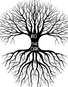 Graphic Drawing of Tree Top, trunk and roots.