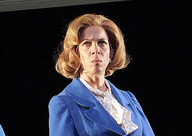 "Alice Selwyn as ""Mags""  in Handbagged at Oldham Coliseum"